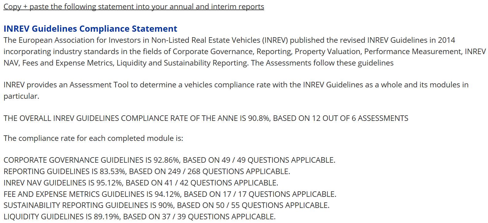 INREV Guidelines - INREV Guidelines